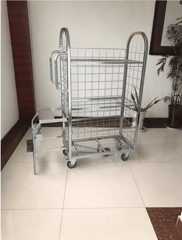 Lagervagn med stege