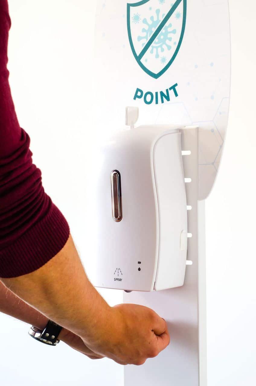 automatisk handdesinfektion
